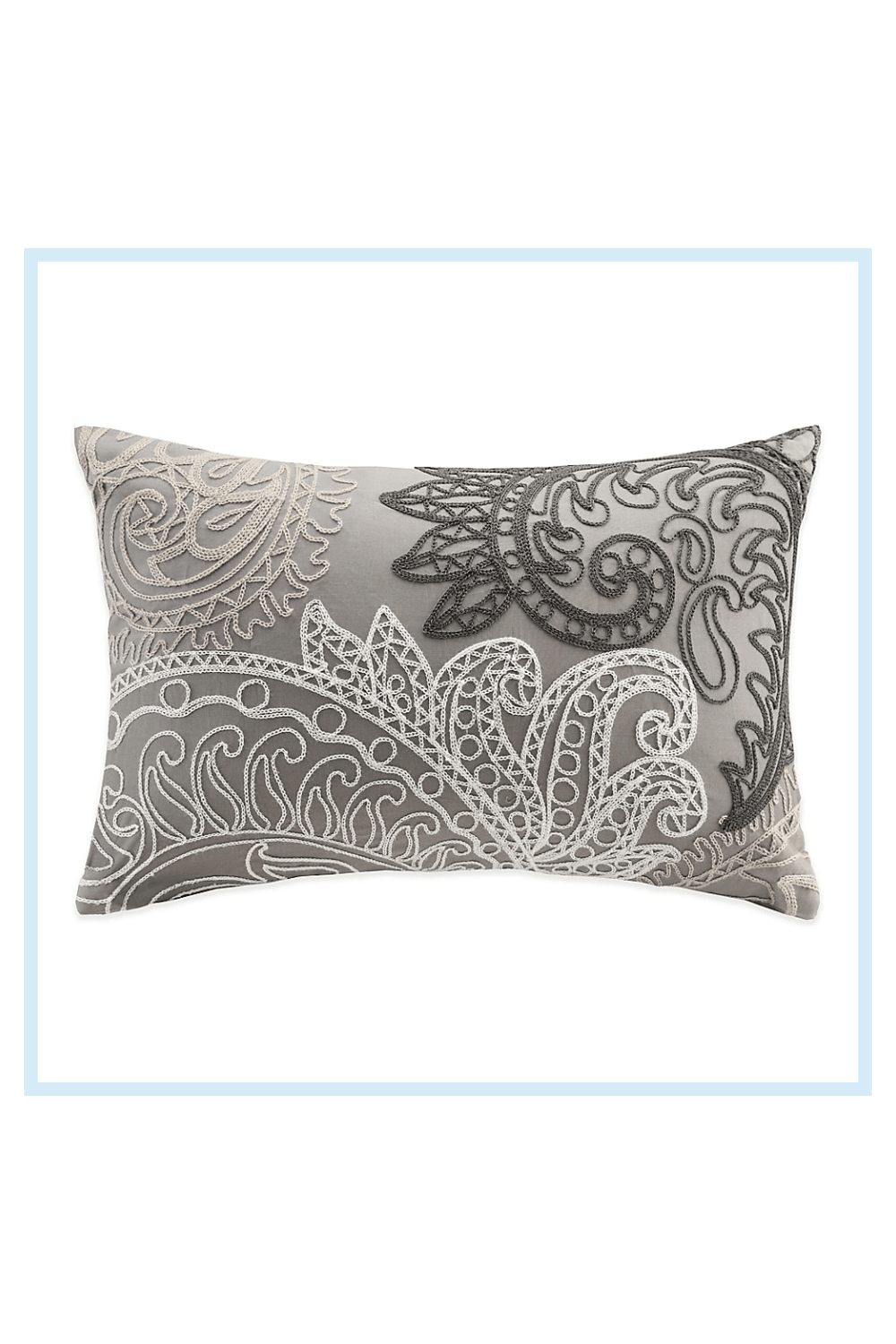 Ink+Ivy Kiran Embroidered Oblong Throw Pillow In Taupe