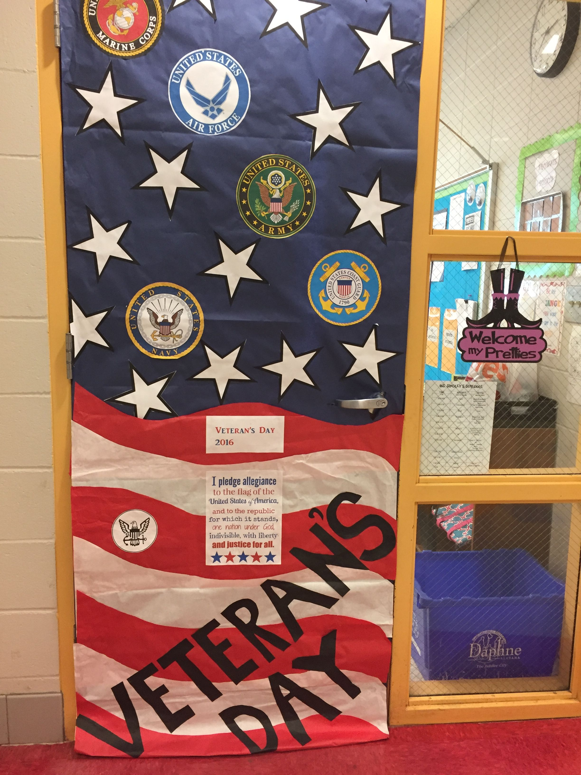 Veterans Day classroom door