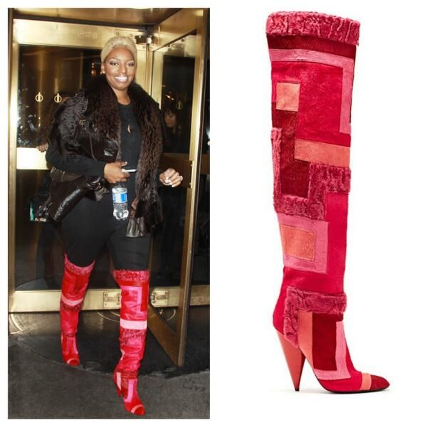 Nene Leakes in Tom Ford's Patchwork Boots