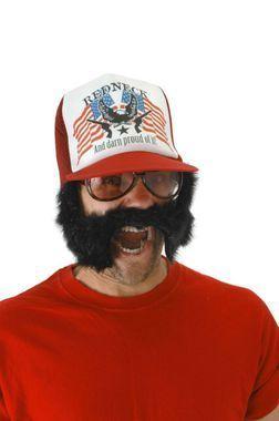 73ab0559 Trash'stache Trucker Cap   Lin Z 30   Trailer trash party, Redneck ...