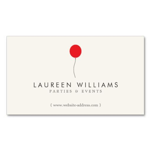 Simple Red Balloon Ii Event Planner Party Planner Business Card
