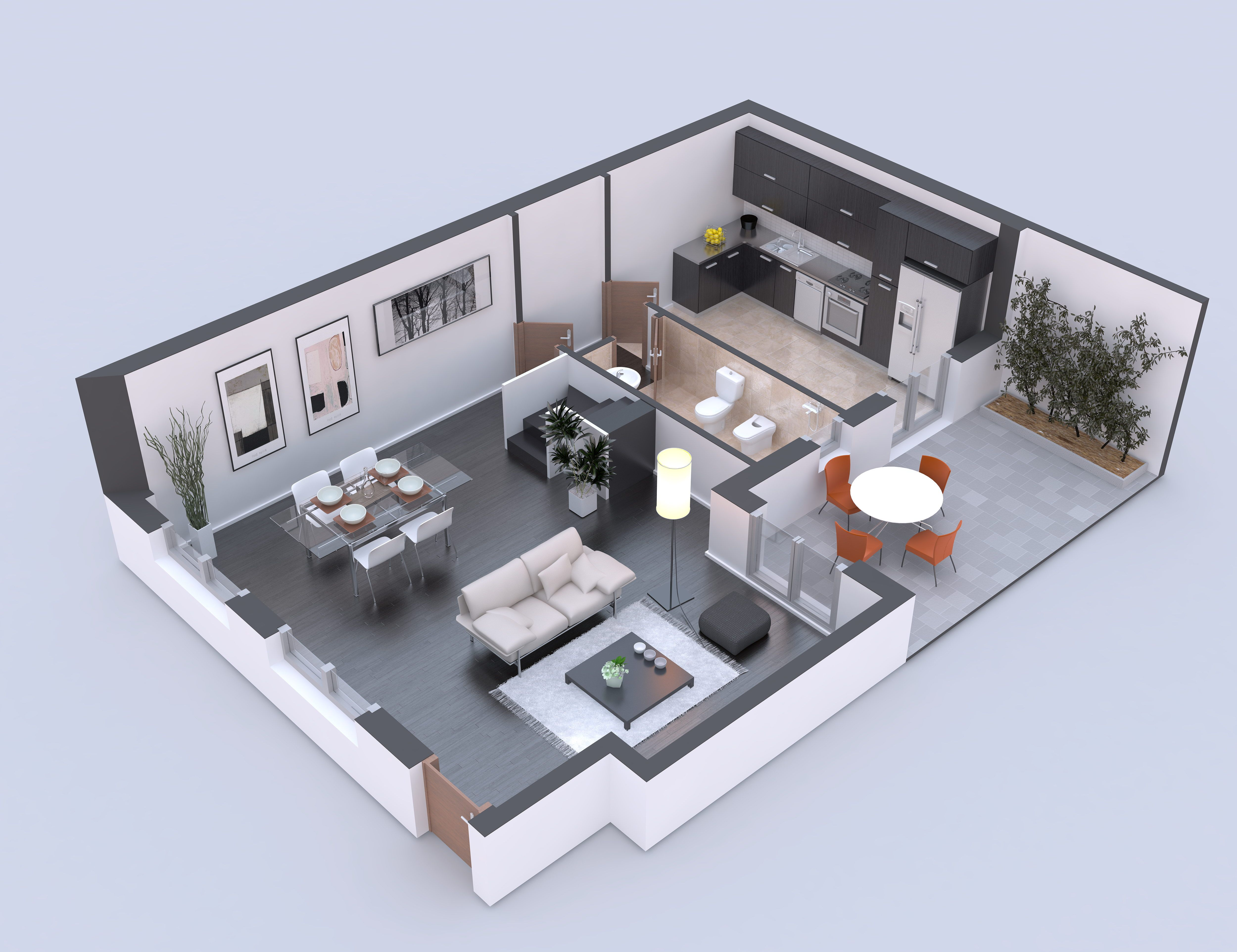 Pianta ristrutturazione Planimetrie dell'appartamento