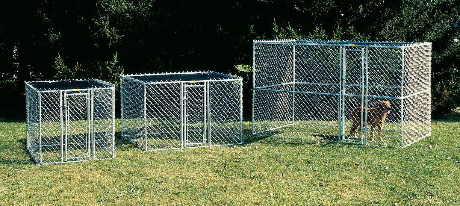 Archie Oscar Derek Steel Chain Link Portable Yard Kennel Reviews Wayfair Small Shed Plans Outdoor Pet Enclosure Steel Chain