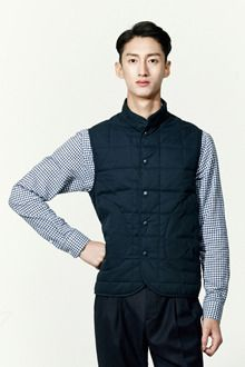 Belkman SOLIDBLUE Simple quilted vest심플 퀼팅 베스트(3col)
