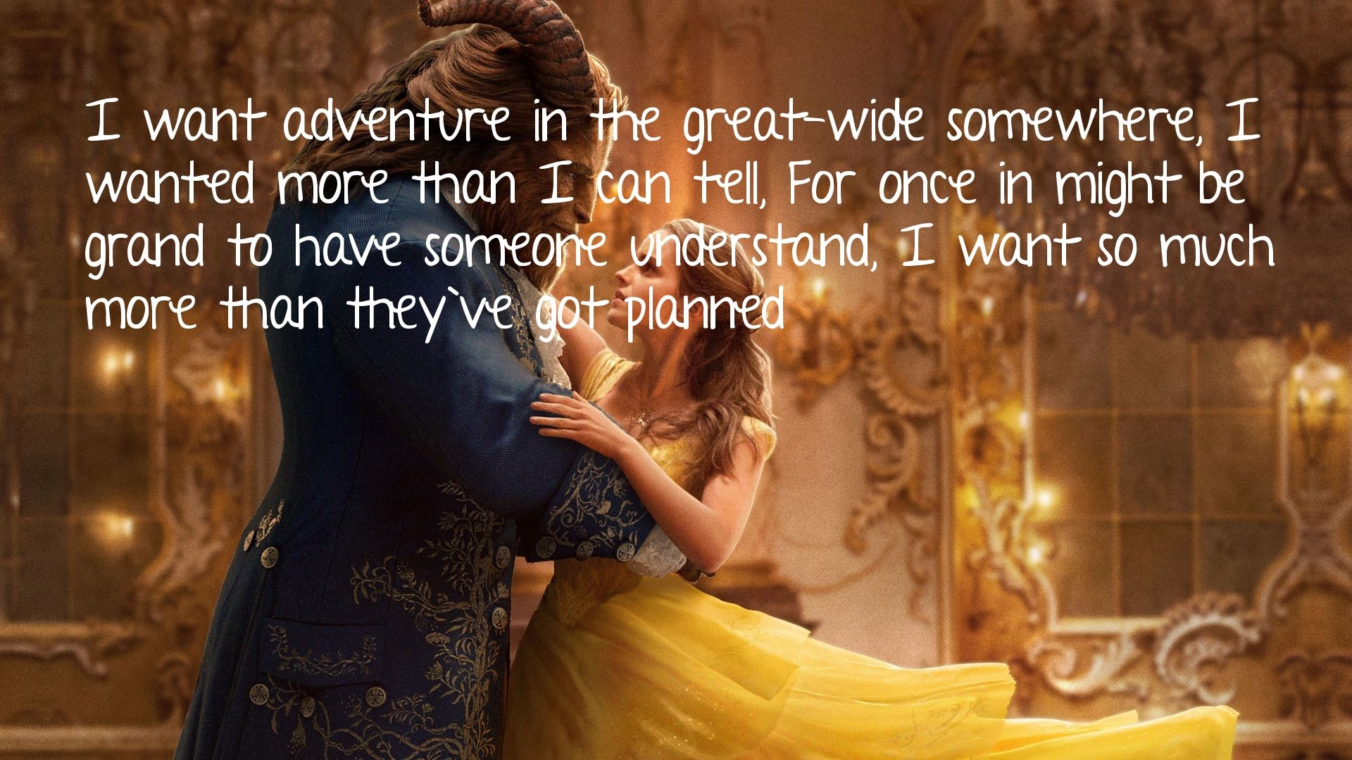 Beauty And The Beast 2017 Quote Love Myself Pinterest