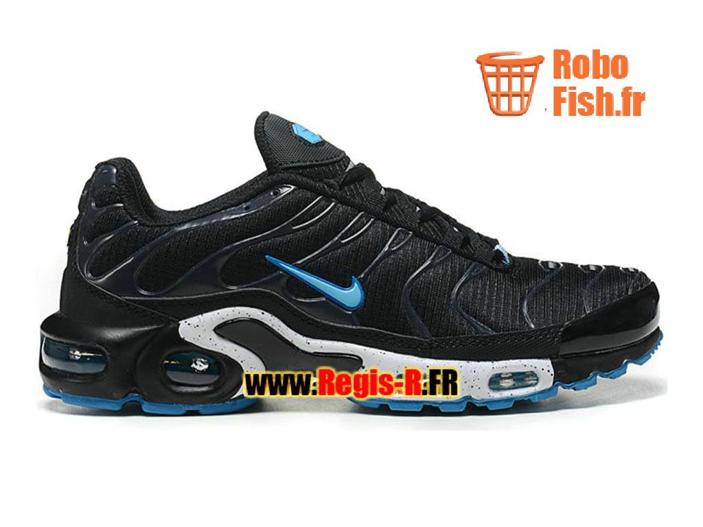 sports shoes 67f1b 4ceea Nike Air Max TnTuned Requin Mesh GS - Chaussures Nike Sportswear Pas Cher  Pour FemmeEnfant NoirBleuBlanc 604133-003G
