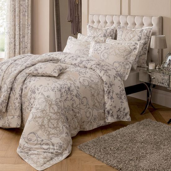 Dorma Taupe Valentina Collection Duvet Cover Set | Dunelm