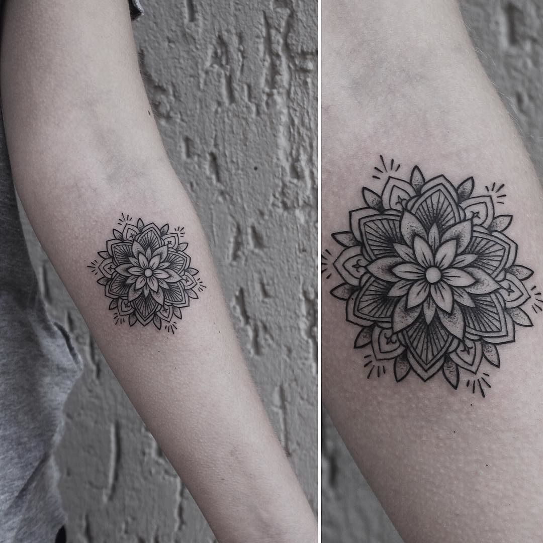 "Photo of ❈ Tattoo Artist | Berlin ❈ on Instagram: ""Small mandala for Sophie today.  Thank you! #rachainsworth #tattoo #sticksandstones #berlin #neukölln @sticksandstonesberlin"""