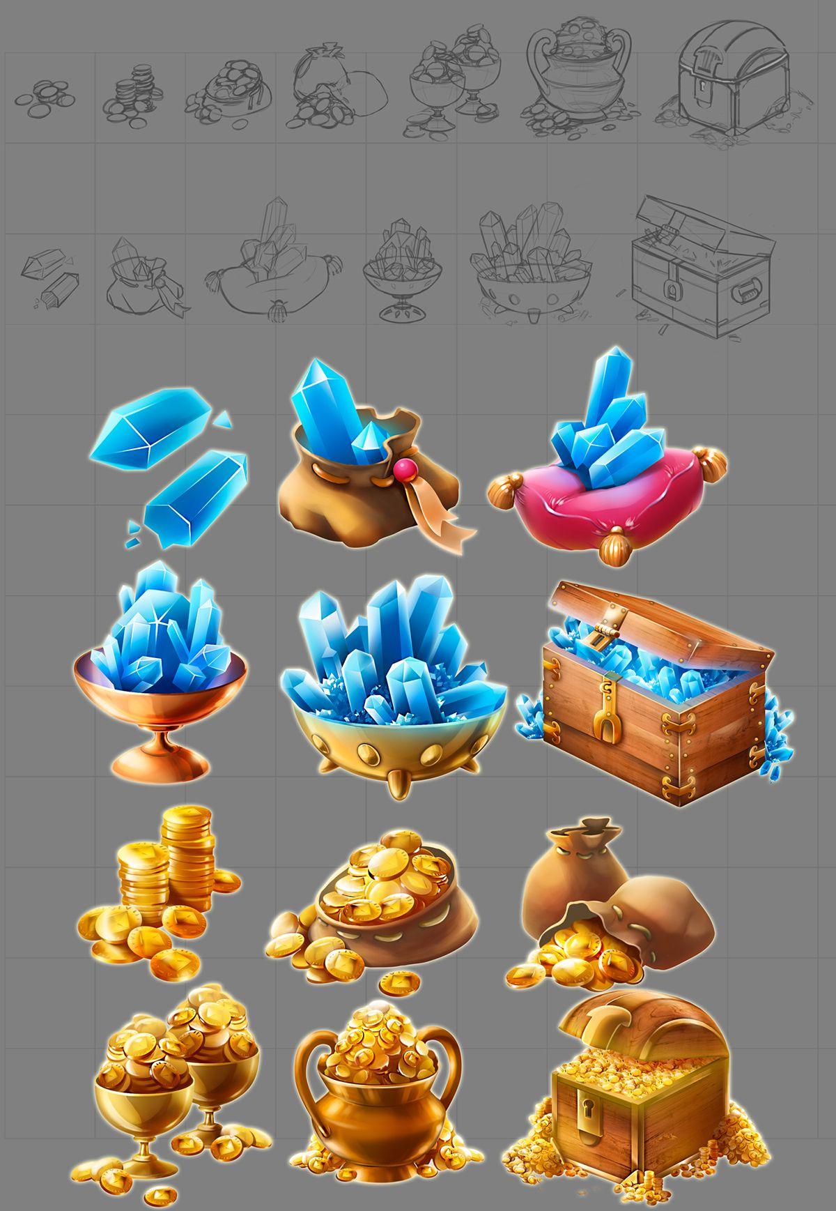 Jewel Quest iOS on Behance (с изображениями) Игровой