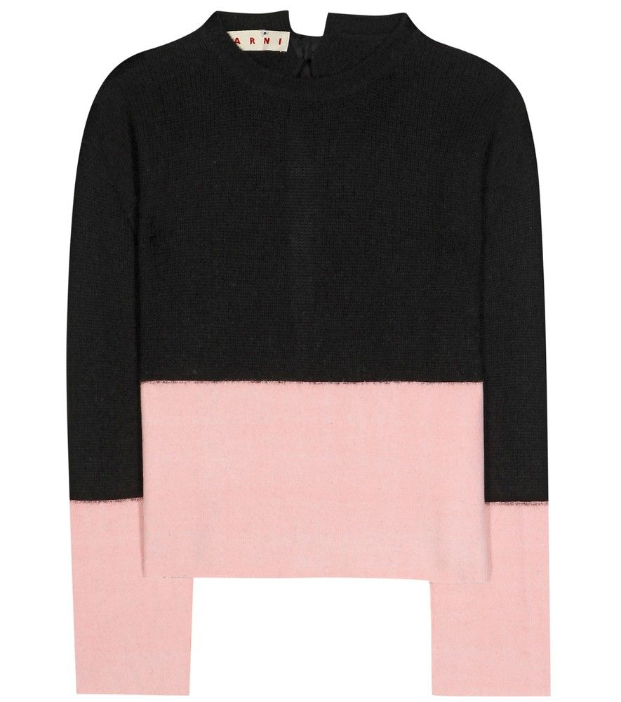 Marni - Cashmere sweater - Opt for a cool, panelled look with ...