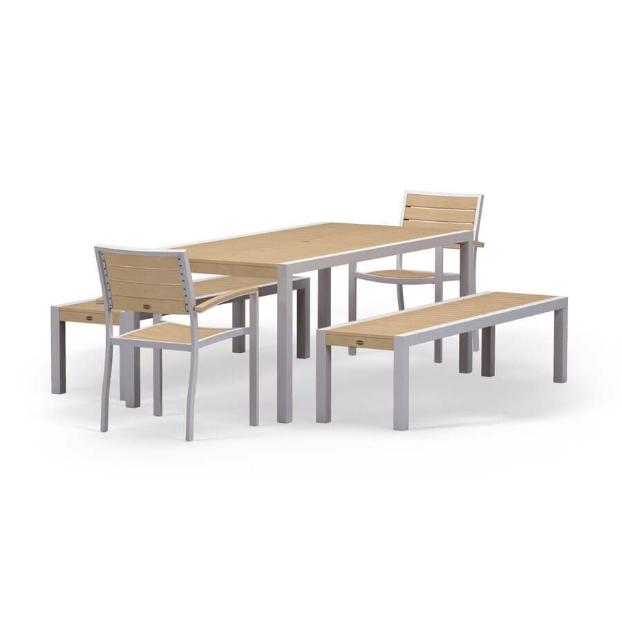 21++ Polywood dining table with bench Tips