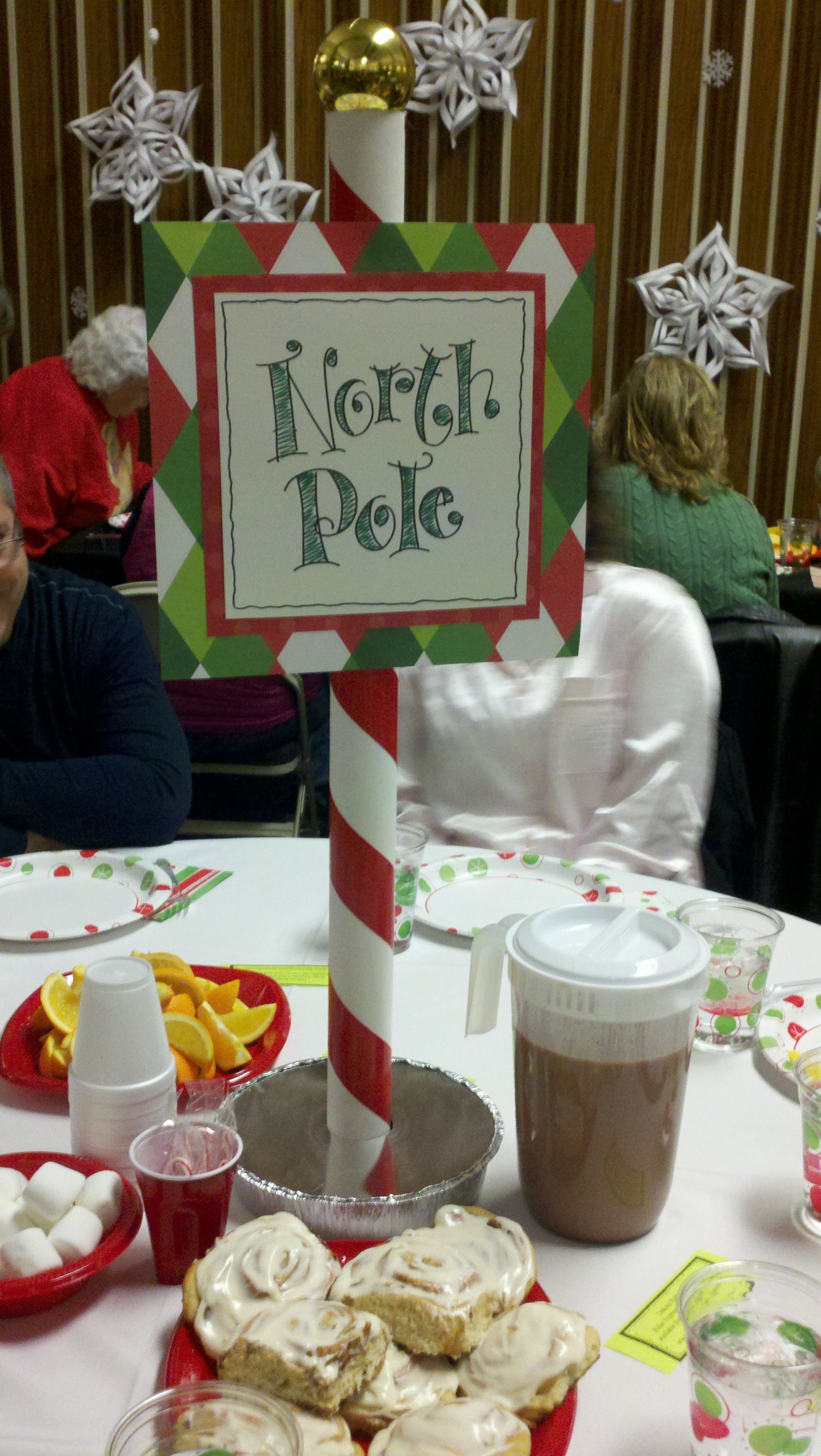 Polar Express Christmas Party Ideas Part - 44: Polar Express Table Centerpieces. North Pole Christmas PartyChristmas ...