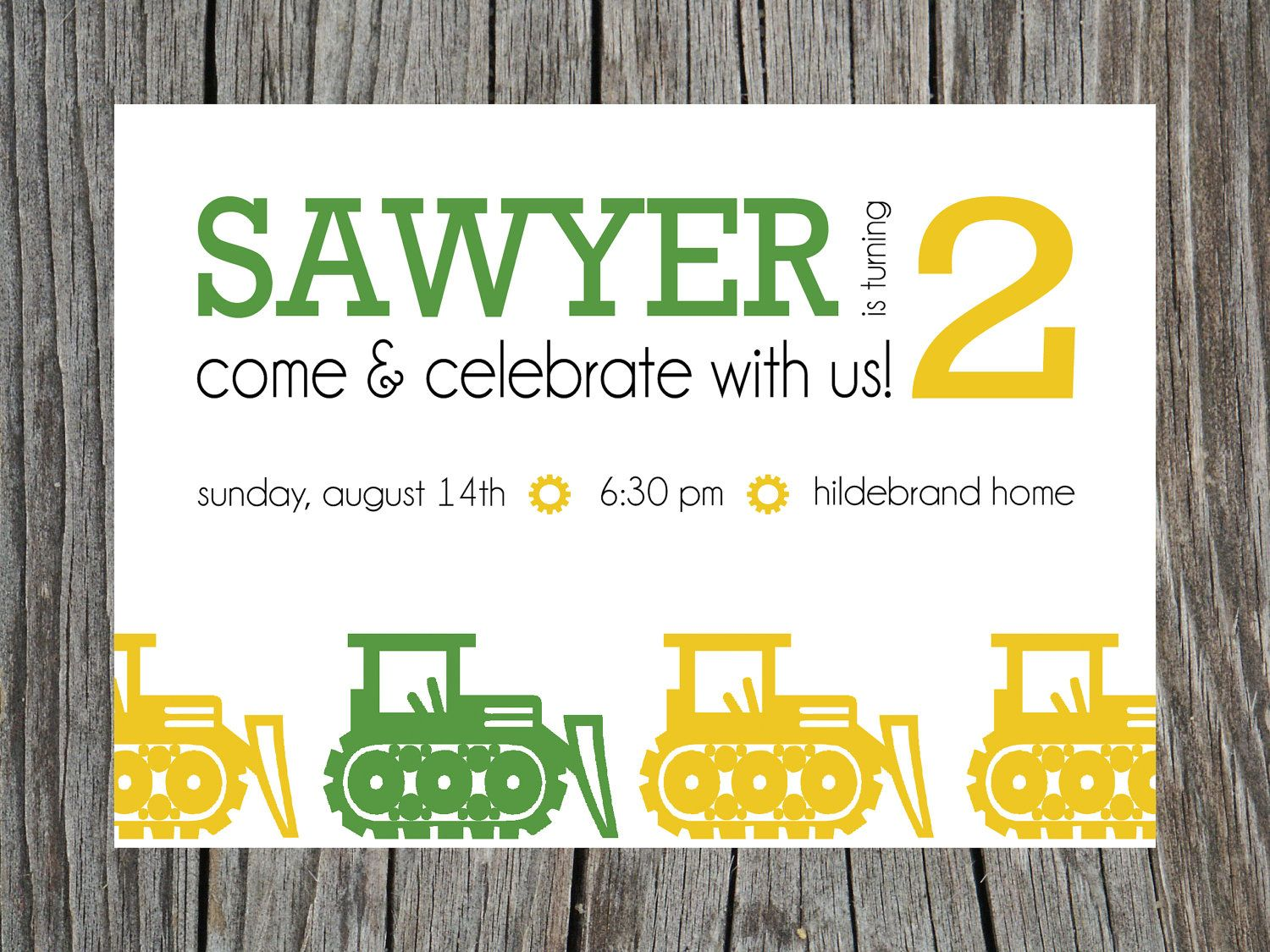 Printable Truck Tractor Boy Birthday Party Invitation | Party ...