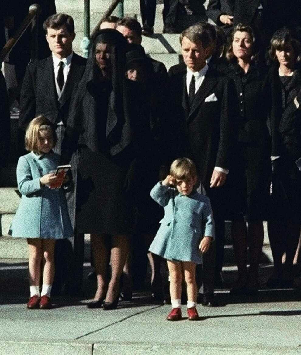 JFK Jr at his father's funeral