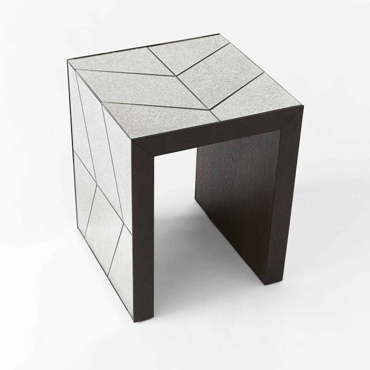 West Elm Mirrored Side Table Credainatconcom - West elm mirrored side table