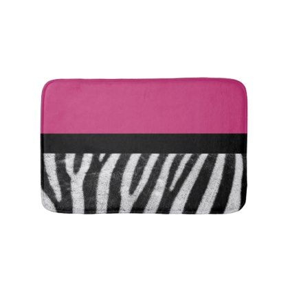 Pink And Zebra Bathroom Mat - bathroom idea ideas home & living diy cyo bath