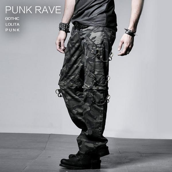 pantalon treillis homme punk rave dark fashion. Black Bedroom Furniture Sets. Home Design Ideas