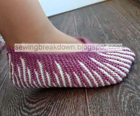 خياطة و تفصيل خطوات كروشيه جوارب شتوية 2015 Knit Shoes Crochet Slippers Knitted Slippers