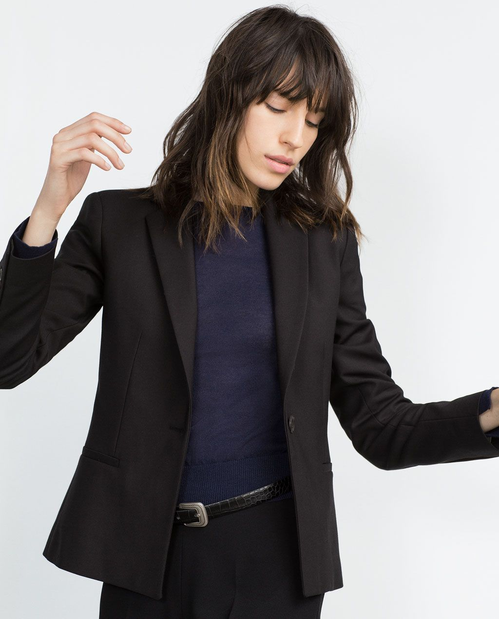 ZARA - COLLECTION AW15 - DOUBLE FABRIC BLAZER