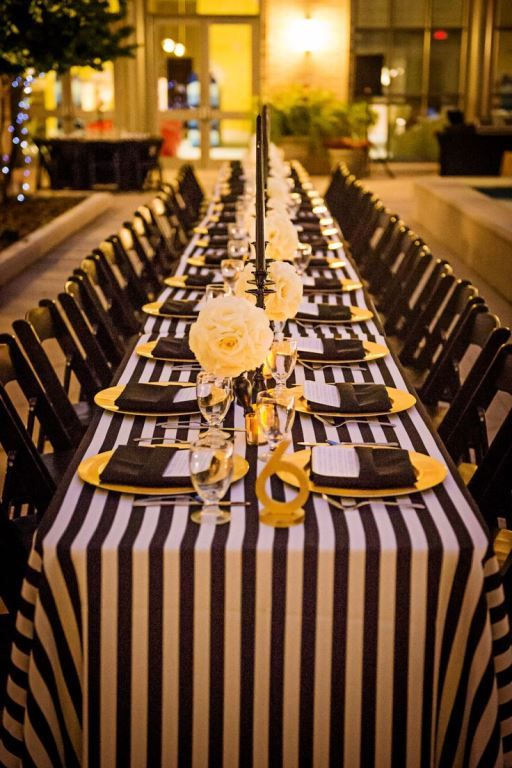 Black White And Gold Dinner Party Ideas Yellow Party Gold