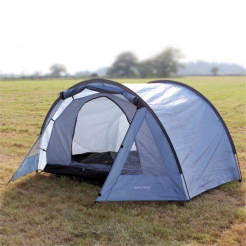 d6a36bb9958 North Gear Camping Exodus Waterproof 4 Man Tunnel Tent Blue ...