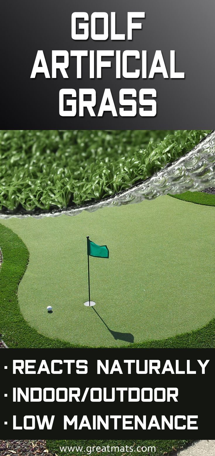 Hole in one artificial grass turf roll ft wide per lf in