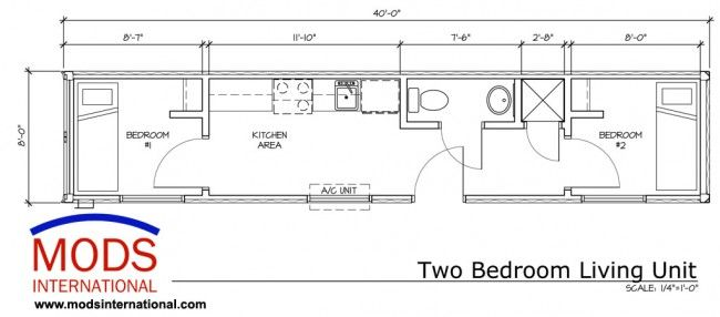 Standard Two Bedroom Layout Economical Durable Tiny Living Solution 40 Two Bedroom Living Container House Plans Shipping Container Buildings Two Bedroom