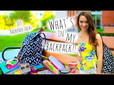Back to School ♡ What's in My Backpack + DIY Tumblr Backpack Alishamarie