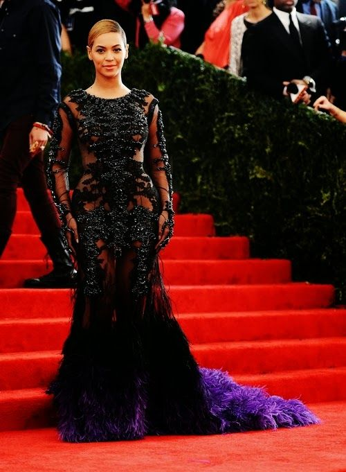 Incredible Givenchy Black And Purple Gown On Beyonce Formal