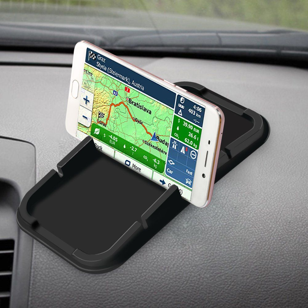 Cell Phone Stand Holder SCHITEC Antislip Car Silicone Dash Pad Mat