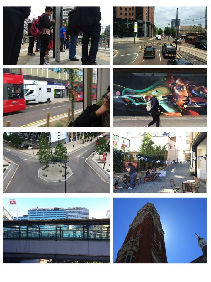 2ND SHOOTING : went around croydon in the same journey as the last shooting but got different angles of the same clips so that our transitions are more diverse and interesting. will have more of a flow . looked for colourful and clean shots, used loads of time lapse tools too