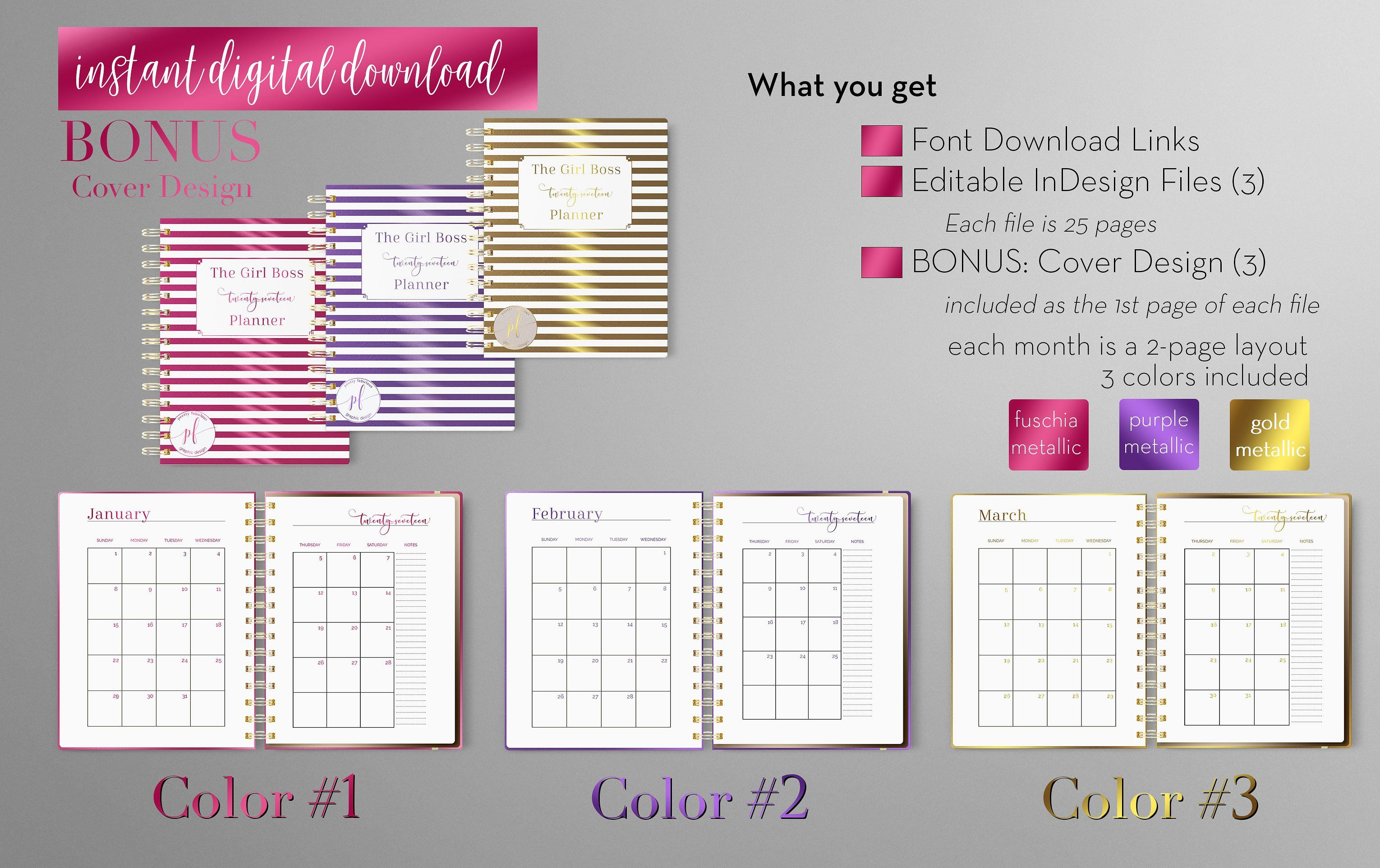 Monthly Planner Indesign Template Roomnotesitemsfiles