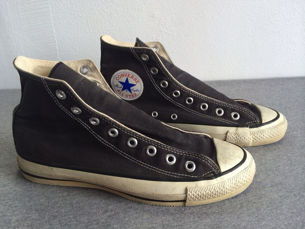 03ab922c3cde Vtg Converse All Star Shoes 90s Chuck Taylor USA Made High Top Men s Black  7 1 2  Converse  AthleticSneakers