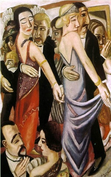 "fleshandthedevil: "" ""Lovers"" "" Dancing at a Bar in Baden-Baden "" by Max Beckmann Courtesy of Blindedbyeverything """