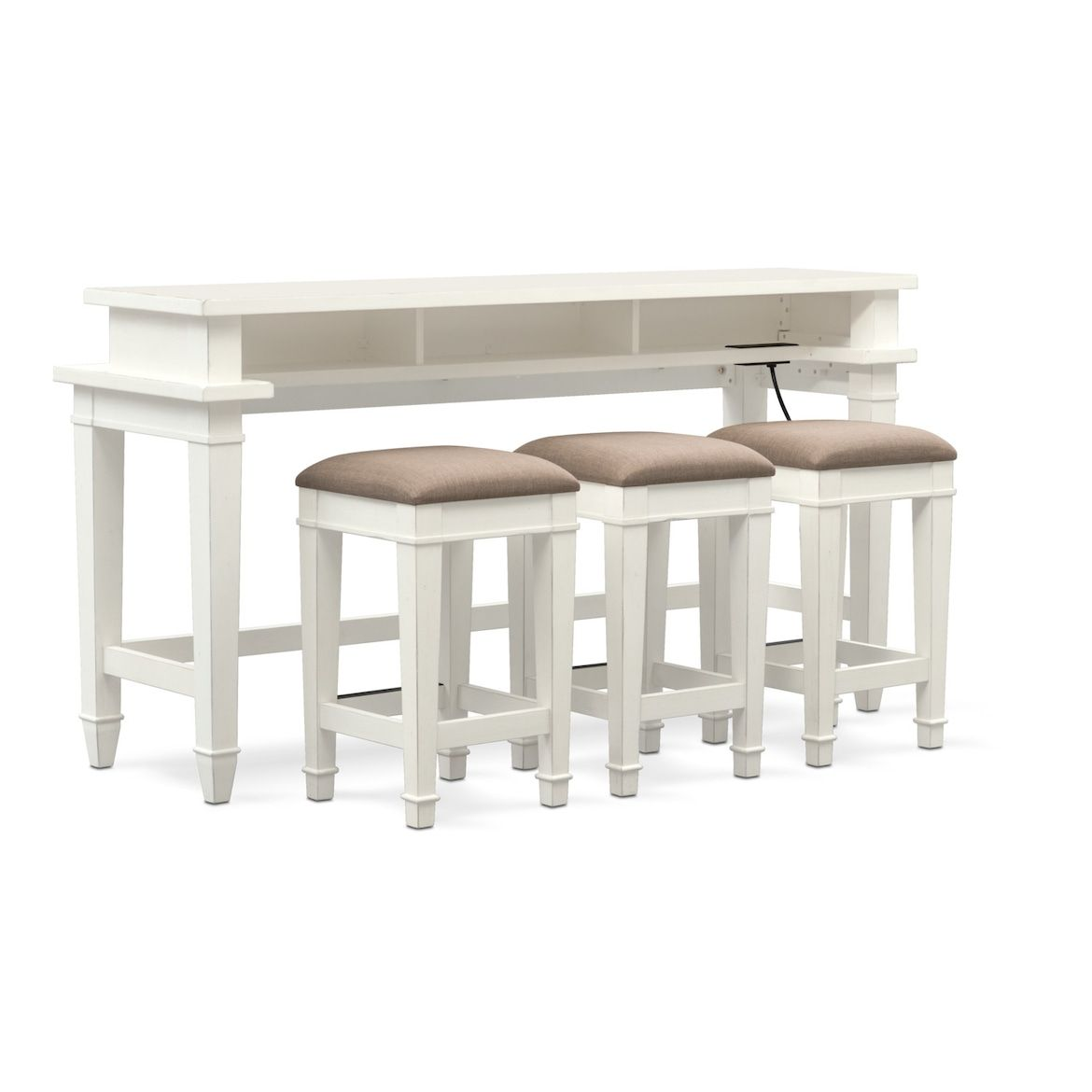 Waverly Sofa Table And 3 Stools Living Room Stools Rattan Furniture Living Room Sofa Table