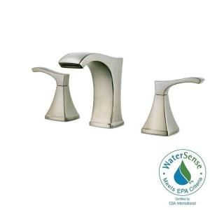 Pfister Venturi 8 in. Widespread 2-Handle Bathroom Faucet in Brushed Nickel LF-049-VNKK at The Home Depot - Mobile