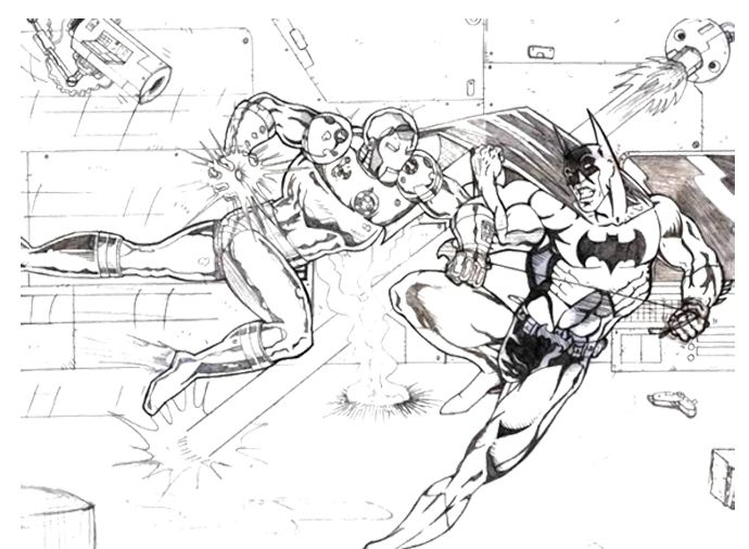 Iron Man VS Batman Coloring Page   Kids Coloring Pages ...