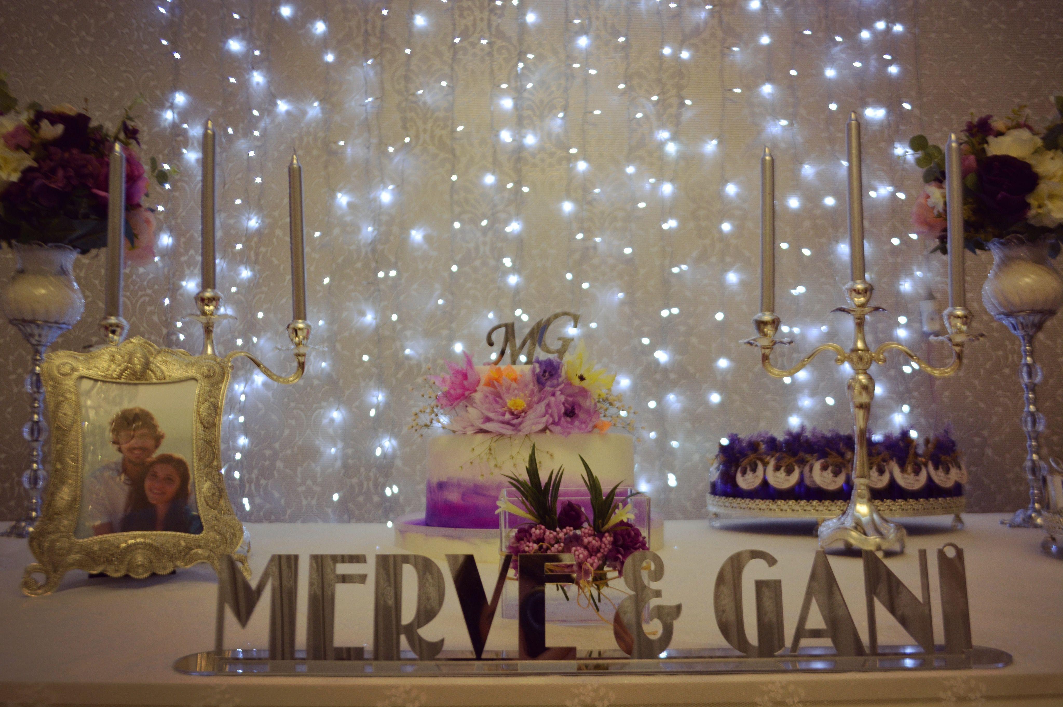 Engagement table desing decoration cake nişan nisan konsept I asked