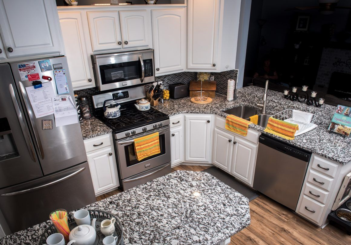 Grey Star Come In Grey Star This Kitchen Countertop Probably Won T Respond To You But Who Cares When I Kitchen Countertops Countertops White Kitchen Cabinets