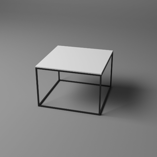 Coffee Table With Metal Base And Powder Coated Tops Table