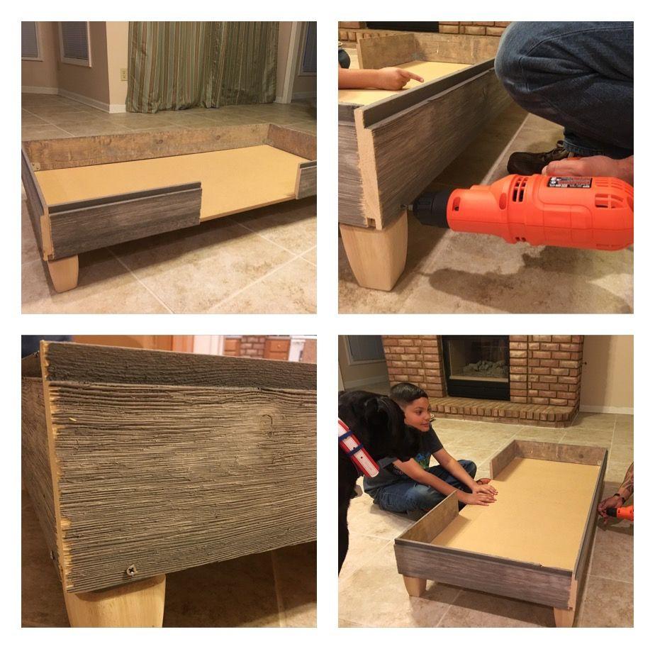 k9sovercoffee how we built a rustic diy dog bed frame step 3 - Diy Dog Bed Frame