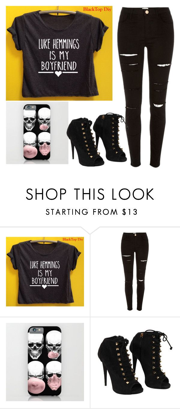 """Luke hemmings"" by toripuppy123 ❤ liked on Polyvore featuring River Island and Giuseppe Zanotti"