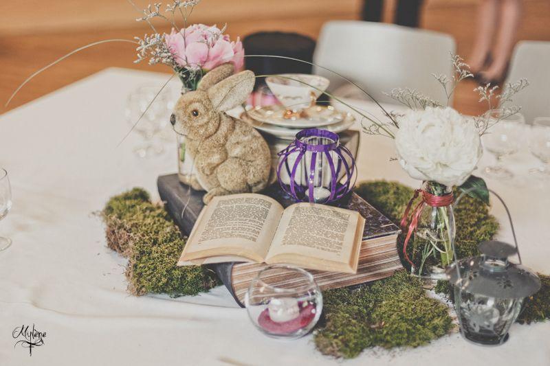 reportage mariage sur le th me alice au pays des merveilles decoration table. Black Bedroom Furniture Sets. Home Design Ideas