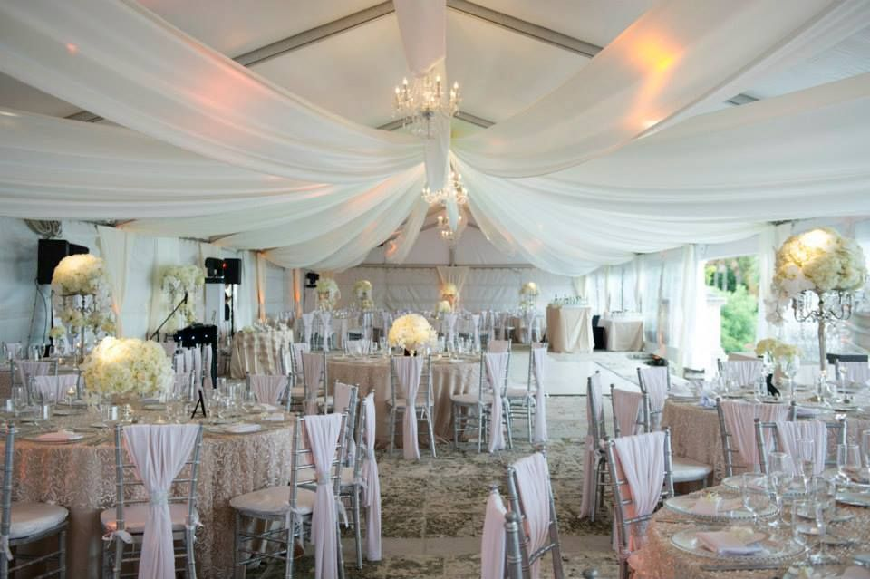 Wedding Tent Decor And Draping Beautiful Vizcaya Museum Destination