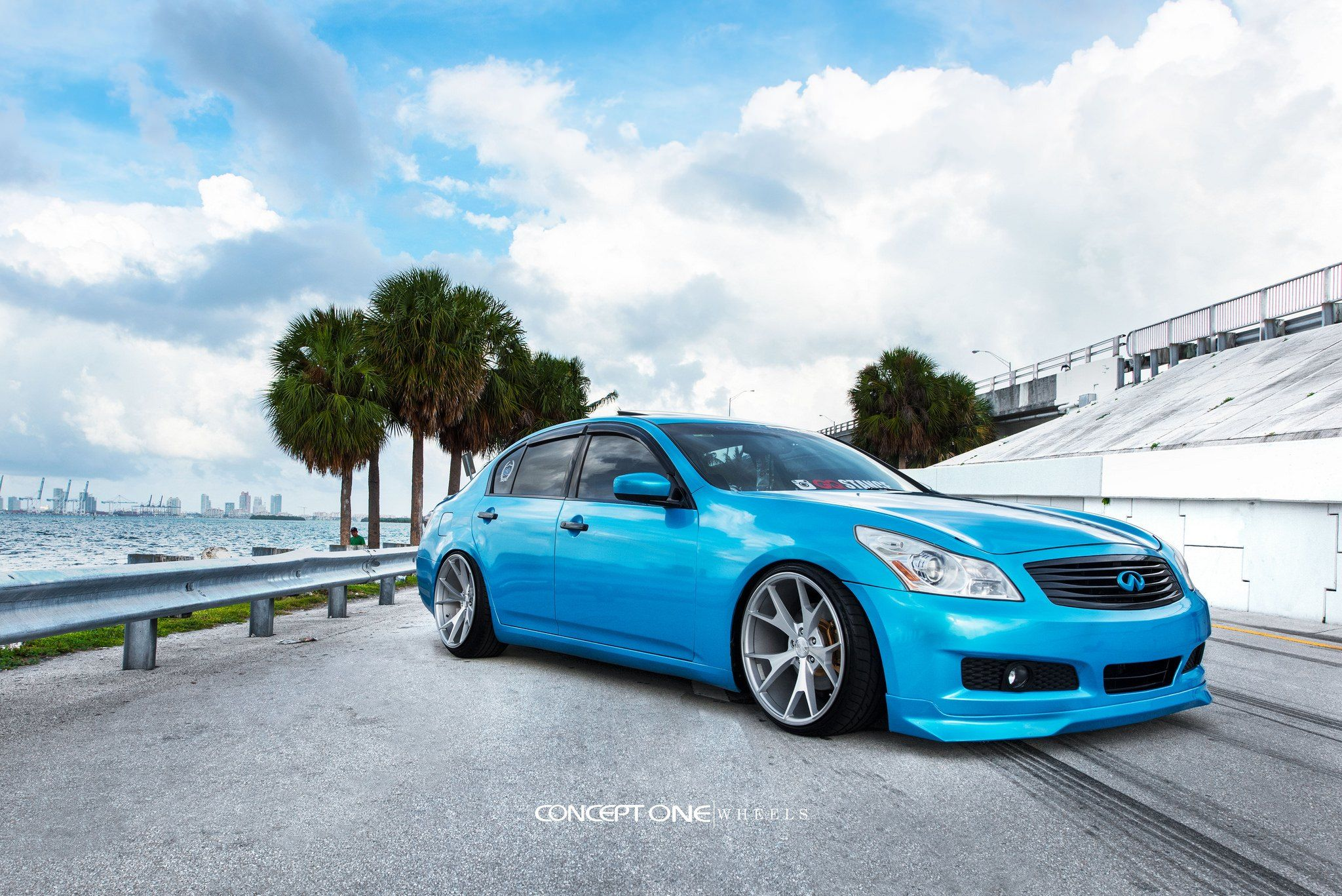 Baby Blue Infiniti G35 Proudly Wears Custom Grille With Emblem And More Baby Blue Infiniti Emblems