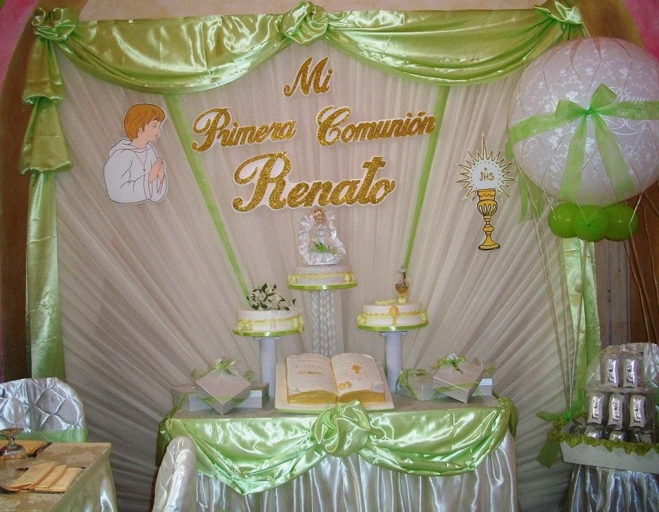 Decoracion Primera Comunion Ni?o ~ Primera comunion on Pinterest  First Communion, Communion and
