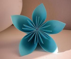 How To Make An Origami 5 Petal Flower Paper Art Origami Origami