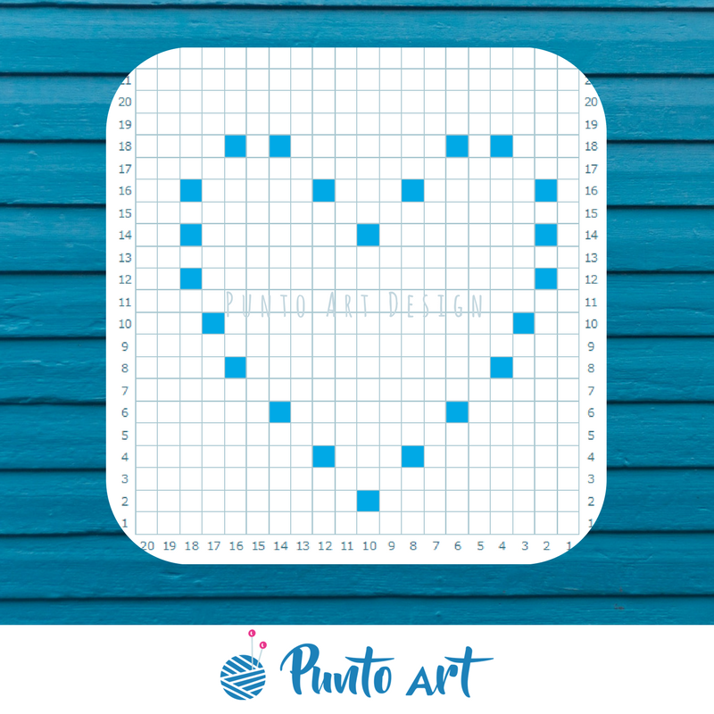 Free patterns ⋆ Punto Art Design | heart | Pinterest