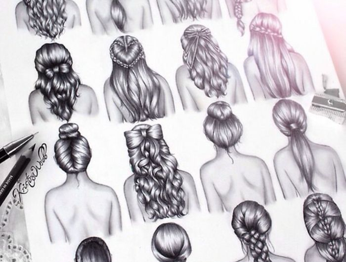 1001 + images pour le dessin fille parfait des idées