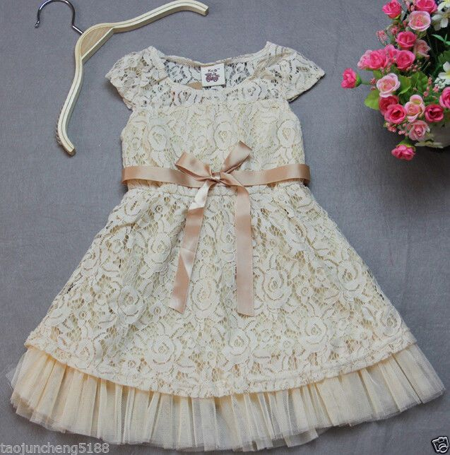 This comes in Pink. Kids Girl Dress, Flower Girl Wedding   Princess Cute Flower Girl Dress     #FlowerGirlDress
